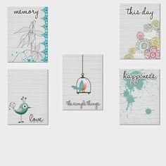 Free Journaling Cards from Le Digi Scrap d'Adeliine