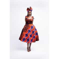 FISAYO African print midi dress – ÖFUURË Infinity Dress, Ankara Fabric, Fitted Skirt, Ladies Clothes, Clothes For Women, African Fashion, Smocking, Printing On Fabric, Bodice