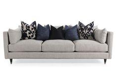 "Low-Profile Mid-Century Modern 45"" Sofa in Gray"