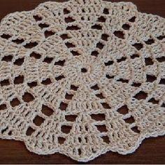 Best 12 ONE Crochet Earrings Pattern, PDF File – Crochet Wedding Earrings – PDF, easy pattern for beginners – SkillOfKing. Crochet Placemat Patterns, Crochet Coaster Pattern, Crochet Square Patterns, Crochet Round, Crochet Squares, Crochet Home, Crochet Designs, Easy Crochet, Crochet Dollies