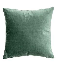 Putetrekk i fløyel   Mosegrønn   H&M HOME   H&M NO