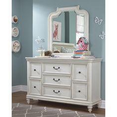 Madison 7 Drawer Dresser with Mirror - HOMM1365