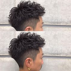 Wavy Hair Men, Curly Hair Cuts, Cut My Hair, Curly Hair Styles, Hair Men Style, Gents Hair Style, Asian Men Hairstyle, Asian Hair, Shot Hair Styles