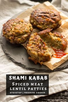 Shami kebab are Pakistani and Indian style beef and lentil patties made with boneless beef, chana daal (split bengal gram), onion, spices and herbs.  This recipe includes stovetop and pressure cooker instructions along with freezing instructions.