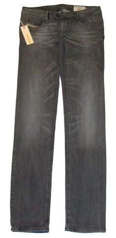 Diesel Womens Jeans NEVY Skinny Leg Stretch Denim 8YQ Grey Sz 25/32 NEW NWT $250 #DIESEL #SlimSkinny
