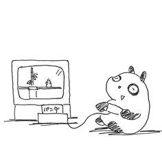 【一日一大熊猫】2016.7.15 ファミコンの日。 #パンダ #ファミコン
