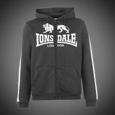 Pánská mikina Lonsdale Classic grey na zip s kapucí. Dvě boční kapsy. Logo  značky 74cf74d6836