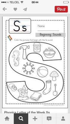 all worksheets 187 printable jolly phonics worksheets Letter S Activities, Preschool Letters, Letter A Crafts, Learning Letters, Preschool Learning, Jolly Phonics Activities, Teaching, Phonics Worksheets, Letter S Worksheets