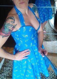 Kup mój przedmiot na #vintedpl http://www.vinted.pl/damska-odziez/krotkie-sukienki/17241409-niebieska-sukienka-w-biale-tulipany