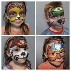 Simple face paint ideas for kids on Halloween.