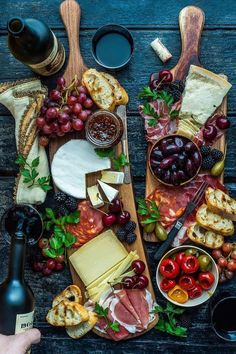 Cheese + fruit + more. Cheese + fruit + more. Charcuterie And Cheese Board, Charcuterie Platter, Antipasto Platter, Cheese Boards, Meat Platter, Crudite Platter Ideas, Grazing Platter Ideas, Cheese Board Display, Platter Board