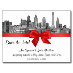 Philadelphia Skyline Etch BW Red Save the Date Postcard Yes I can say you are on right site we just collected best shopping store that haveReview          Philadelphia Skyline Etch BW Red Save the Date Postcard Online Secure Check out Quick and Easy...