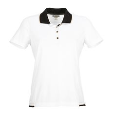 Meadow Road (White) Greg Norman Ladies & Plus Size Short Sleeve Contrast Trim Golf Shirt at #lorisgolfshoppe
