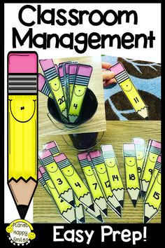 """I love using this tool in my classroom and you will, too! Do you have students that you would love to answer your questions but they never raise their hand? Or ... do you have students that want to blurt answers? These sticks will help solve those issues and more. There are several other uses for these """"Pencil Sticks"""" for classroom management! They are great for pairing students for projects. You can also teach number order 1-30 with them! Check them out!"""