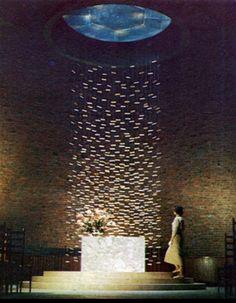 MIT The Kresge Chapel in Cambridge, Massachusetts by Eero Saarinen and Harry Bertoia [1955]