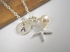 Flower Girl Gift Sterling Silver Initial by ShinyLittleBlessings, $32.00