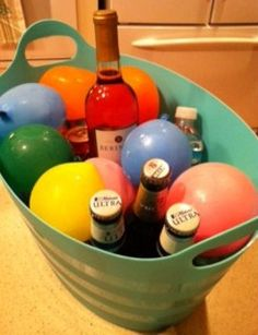 Frozen Water Balloons to keep drinks cold!