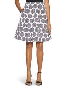 White House | Black Market Circle Print Full Midi Skirt #whbm -- Aaaand I need this skirt.