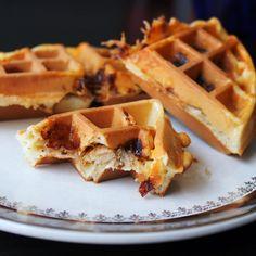 : Pulled Pork Stuffed Waffles
