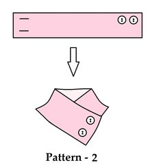 Button tricks to add buttons to a neck warmer or scarf.                                                                                                                                                                                 More