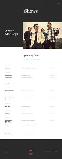 Record Label Website - Shows by Jaromir Kveton