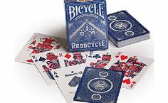 Bicycle Robocycle Playing Cards- Blue No description (Barcode EAN = 0073854019375). http://www.comparestoreprices.co.uk/playing-cards/bicycle-robocycle-playing-cards-blue.asp