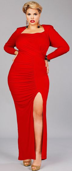 Red dress- I would love the courage to wear something like this! With a fabulous full body spanks, of course. Haha!