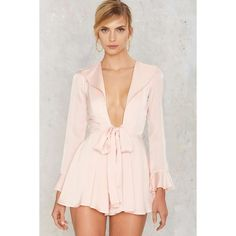 Margaret Satin Romper ($88) ❤ liked on Polyvore featuring jumpsuits, rompers, pink, long-sleeve rompers, satin rompers, long-sleeve romper, satin romper and pink rompers