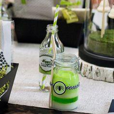 Spooky Friends Drink Bottle Wraps and Jar Embellishments