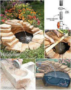 Estanque de piedra y Fuente
