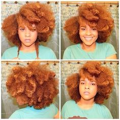 Natural Hair | Black Blonde | Curly Afro | Big Hair | A POP of color ...