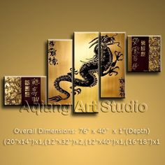Modern Contemporary Oil Painting Dragon Feng Shui Zen Wall Art BoYi No Frame AU $19.95 . More paintings available from eBay store http://stores.ebay.com/Oriental-Arts-And-Crafts/