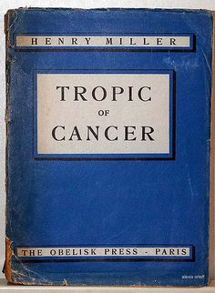 """Tropic of Cancer"" by Henry Miller (Paperback)"