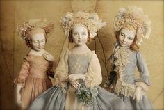 Ольга Сукач Antique Dolls, Vintage Dolls, Doll Parts, Bisque Doll, Art Dolls, Dolls Dolls, Doll Maker, Ball Jointed Dolls, Fabric Dolls