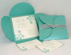 Tiffany Blue and Silver Wedding Invitation Idea - Luxe! Wedding Cards, Our Wedding, Dream Wedding, Luxury Wedding, Blue Wedding Invitations, Wedding Stationary, Bleu Tiffany, Azul Tiffany, Wedding Colors