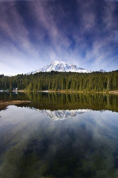 Rainier  from the aptly named Reflection lake.