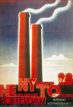 A.M. Cassandre, poster for Dutch Industrial Exhibition, 1928 #design