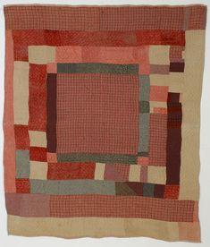 Wool Homespun Center Medallion Quilt: Circa 1820's; Connecticut