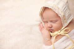 Yellow Pattered Bonnet by TinyBeanBaby on Etsy