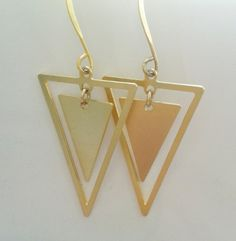 Check out this item in my Etsy shop https://www.etsy.com/il-en/listing/188440244/triangle-earring-triangle-earrings-gold
