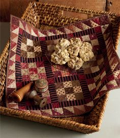 A cute little quilt . . . and sweet a little treat :)