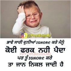 Nav jivan Punjabi Attitude Quotes, Punjabi Love Quotes, Love Quotes In Hindi, Sad Love Quotes, Punjabi Funny, Respect Quotes, Funny Qoutes, Deep Thoughts, Quotations