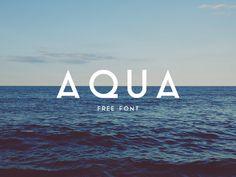 Aqua Free Font Vintage sans serif typeface
