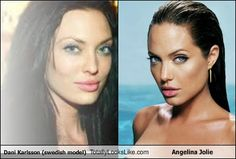 Dani Karlsson (Swedish Model) Totally Looks Like Angelina Jolie