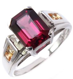 2.10 carats Natural Rhodolite Garnet 8.2x6.2mm and Yellow Sapphire 925 Sterling Silver Ring. Our Jewelry Products are popular fashion and classic fine designs with very good craftsmanship. High quality jewelry at affordable prices. All the main stone of our jewelry we used Natural Stones, life time guarantee for the main stone color is permanent. Perfect for Gift, Party and Casual and Collections. 100% Customer Satisfaction is our goal, so we get repeated buyers. Thank you for your visit…