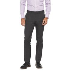Haggar H26 - Men's Slim Fit Suit Pant Charcoal Pinstripe