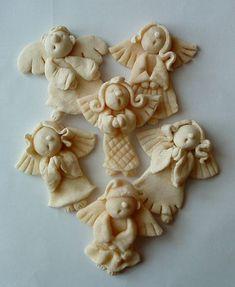Christmas Clay, Primitive Christmas, Homemade Christmas, Christmas Projects, Holiday Crafts, Christmas Ornaments, Salt Dough Crafts, Salt Dough Ornaments, Clay Ornaments