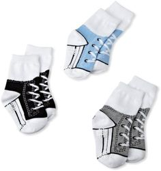 Tic Tac Toe Baby-boys Infant Low Tops Graphic Socks