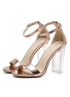 92533a7ba34a New women gladiator sandals ladies pumps high heels shoes woman Transparent  T-strap party wedding dress shoes Clear Heels
