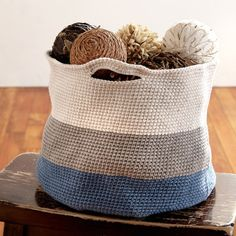 Bernat® Maker Home Dec™ Crochet Basket